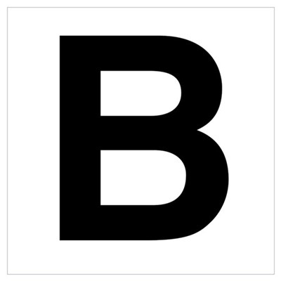 B Helvetica Alphabet Canvas Art